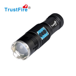 Wholesale High Power Led Motor - Zoom LED Flashlight High Power Super Bright Rechargeable LED Emergency Light Motor Driving Flashlight beam Focus Handy Portable Flash Light