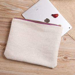 Wholesale Envelope Small Bag - Free shipping Promotional Blank Cotton Clutch Beauty Cosmetic Bag Wholesale storage cosmetic bag custom high quality clutch bag