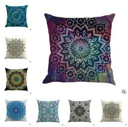 Argentina Mandala Indian Cushion Cover Bohemia Funda de almohada geométrica de lino 16 Estilos Chair Seat Car Sofa Decorativo de 18 pulgadas Funda de almohada cheap seat cover car 18 Suministro