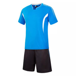 Wholesale Diy Train Set - BENWON - Adult's customized short sleeve soccer jerseys diy logo name number football training sets men's outdoor soccer uniforms sportwear
