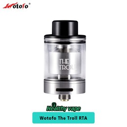Wholesale Wholesale Cotton Filling - Original Wotofo The Troll RTA Tank 5ml Tank Easy Top Filling Huge Cotton Hole for Easy Wicking Electronic Cigarette
