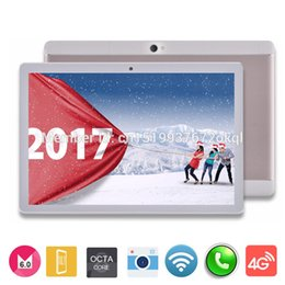 Wholesale Dual Core Ips Mp - Wholesale- DHL Free shipping 10 inch Android 6.0 Tablet pc 1920*1200 IPS screen Octa Core 4G LTE 3G Phone Call 5.0 Mp Camera GPS 4G 32G
