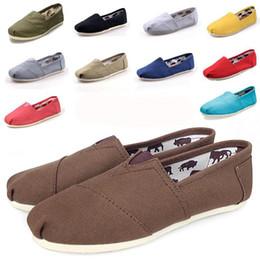 Wholesale Men Canvas Shoe Wholesale - For Tomas Shoes Men Women's casual solid canvas shoes EVA flat pattern stripes lovers Glitter Classic canvas shoes