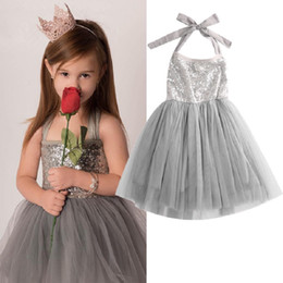 Wholesale Toddler Birthday Outfits Girls - BABY Girls Party Dress Toddler Birthday Sundress Kids Boutique Clothing Infant Princess Dresses Tutu Jersey Children Ball Gown Formal Outfit