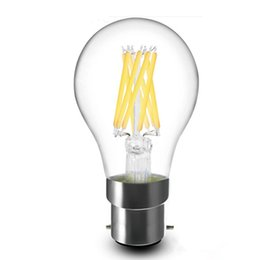 Wholesale White Globe Lamp E27 6w - Filament led a60 bulbs 8w 6w 4w 2w dimmable E27 E26 B22 360 Angle Led Lights Edison Lamp 110LM W AC85~265V CSA UL