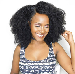 Wholesale Glueless Lace Fronts - Brazilian Afro Kinky Curly Human Hair Wigs for Black Women Glueless Lace Front Wig Full Lace Wig with Baby Hair G-EASY