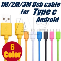 Wholesale Android 2m - Type C Micro V8 S8 Plus Charging USB Cable 1M 2M 3M Type-c Quick Charge For Android LG K20 One Plus