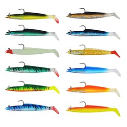Wholesale Bulk Lures - Multicolor Soft fishing lures Rubber soft bait 150mm 21g Bulk Mad Mullet Stretch Soft Vibe Fishing Lure