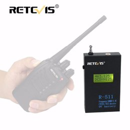 Wholesale Walkie Talkie Frequency Counter - Wholesale- Frosted Iron Shell Retevis R-511 Portable Frequency Counter Meter LCD Display 50MHz-2.4GHz CTCSS DCS Decoder For Walkie Talkie