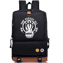 Wholesale Cool Canvas Backpacks - Roman Reigns backpack Best player day pack Cool black school bag Wrestling rucksack Sport schoolbag Outdoor daypack