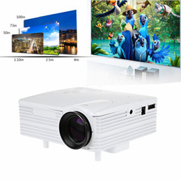 Wholesale Vga Systems - Wholesale-2016 Genuine Shelves Soon Full HD Home Theater Cinema H80 LCD Image System 80 Lumens Mini LED Projector with AV VGA SD USB HDMI