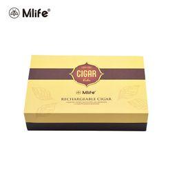 Wholesale E Liquid Kits - Mlife Vape Pen Starter Kits Rechargeable Cigar 900mAh Battery 1.3ml E-liquid Tank Evaporators Vaporizer Amazing Design Kit Original