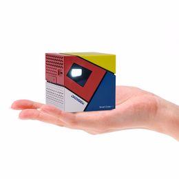 Wholesale Smart Beamer - Wholesale-DOOGEE P1 DLP Smart Cube Andriod 4.4 WIFI Wireless 1GB RAM 8GB ROM 1080P Portable LED Projector HD Home Cinema Beamer
