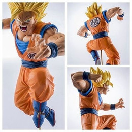 Wholesale Goku Action Figure Pvc - 19cm PVC Figurines Dragon Ball Z Action Figures Dragonball Figure Son Goku Super Saiyan Dbz Toys Budokai Tenkaichi 3