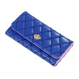Wholesale crown vintage key - 2017 New designer Fashion Crown Designer Wallets Famous Brand Women Wallet Ladies Purse Fashion Key Holder Pochette Female Purse