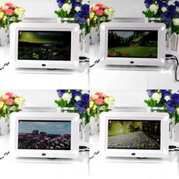 Wholesale Digital Photo Frame Music - New Multi-functional 7 inch TFT-LCD desktop hd Digital Photo Frame Remote control Movies MP3 MP4 Player Music Alarm Clock