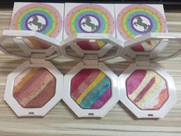 Wholesale Rainbow Full - New Arrival Fenty Beauty Unicorn Rainbow eyeshadow highlighter Cosmetics 3 colors available glamierre mermaid glitter DHL Free