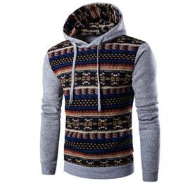 Wholesale Mens Xxl Belts - Wholesale-2016 Hoodies Mens Hombre Hip Hop Male Brand Hoodie Fashion Geometric Print Sweatshirt Suit Men Slim Fit Men Hoody XXL EYRV