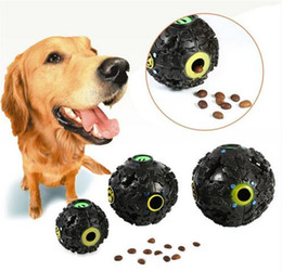 durable interactive pet trumpet squeak ball dog leakage food ball inspiration training toy teeth chewing ball to115 uk