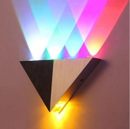 Wholesale Art For White Walls - Lemon Best Colorful Decoration LED Wall Light 5W AC90-265V Triangle Aluminum 5 Colors Wall Lamps Cold  Warm White for Room Hote lLLFA