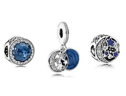 Wholesale Box Fit European Beads - S925 Sterling Silver Charm & Pendant Bead Sets with Charm Box Fit European Pandora Style Jewelry Bracelets & Necklaces-Christmas Gifts C13