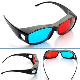Wholesale Eyewear 3d Video Glasses - Wholesale- 10pcs 3D Red Green Magenta glasses Cyan Myopia VISION Dimensional Anaglyph Eyewear Video Glass for Plasma TV Game Stereo Movie