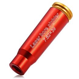 luftgewehre für die jagd Rabatt Taktische 7,62x39 Red Dot Laser Sight Sighter Schussprüfer Gewehre Jagd Für luftgewehr Modul Fokus stift Schussprüfer Patrone Red Laser + B