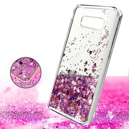 Wholesale Case Quicksand Lg - Bling Liquid Flowing Quicksand Case Soft TPU Bumper Glitter Cover For iphone X 8 7 plus Samsung Note8 S8 plus LG V30 Alcatel Idol5 OPPBag
