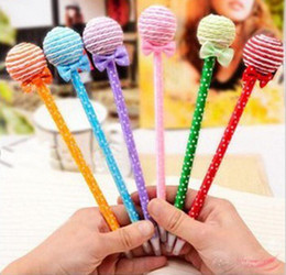 Wholesale Cute Christmas Stationery - Cute Lollipop Pen Ball point Pen Office Supplies Stationery Changeable Shape Rollerball Pens Childrens Toys Christmas Gift