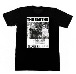 Wholesale Tatoo Sleeve Shirts - The Smiths Japanese Import T SHIRT 92 Shirt Morrisey Printing Men T Shirt Free Shipping Cute Tatoo Lover T-Shirt Top Tees