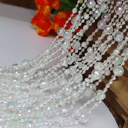 Wholesale Crystal Garland Strands Wholesale - Fashion Acrylic Colorful Crystal Beads String Chain Beautiful Garland Strands for Christmas Tree Hanging Wedding Party Decorations