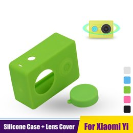 Wholesale Rechargeable Silica Gel - Wholesale- Xiaomi Yi Accessories Colorful Camera Case Silicone Rubber Skin Protector Housing Silica gel Protective Lens Cover Cap