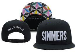 Wholesale black scale hats - High Quality Black Scale Sinners Snapback Caps & Hats Snapbacks Snap Back Hat Men Women Baseball Cap Cheap Sale