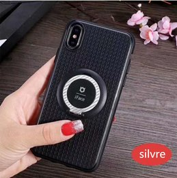 Wholesale Iface Iphone 5s - New Iface Serise Cellphone Case Magnetic Car Ring Holder For iphone X iphone 8 8 Plus 7 7plus 6 6s plus 5s Samsung S8 S8plus TPU Phone Case