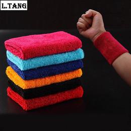 pulseiras de algodão preto Desconto Venda por atacado - L. Tang 1 peça de apoio de pulso de tênis Sweatbands proteção de algodão preto Red Wrist Band pulseira esporte Yoga Running L273A