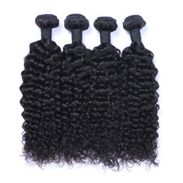Wholesale Virgin Remy Indian Curly Hair - Peruvian Human Remy Virgin Hair Jerry Curly Hair Weaves Natural Color 100g bundle Double Wefts 4Bundles lot Hair Extensions