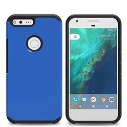 Wholesale Zte Dual - Armor Hybrid Hard PC Soft TPU Case For Google Pixel XL ZTE Zmax Pro Z981 N9136 2 IN 1 ShockProof Camo Defender Dual Layer Skin Cover Luxury