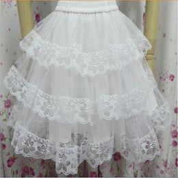 Underskirt curto preto on-line-Chegada nova Short Petticoats Branco / Preto Hoopless 3 Camadas Vestido Formal Noiva Underskirt Crinolina Acessórios Do Casamento