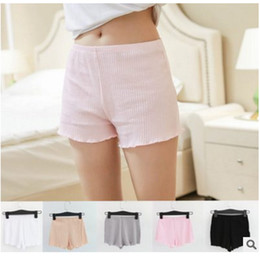 Wholesale White Lace Knickers - free shipping 2017 new design summer women short pants woman cotton lace pants girl Safety pants Sexy Women Panties Ladies Knickers Female