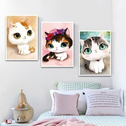 Wholesale Canvas Paste - Children Animals Diamond Paintings Cute Cartoon Cartoon Children Paste Diamond Paintings European and American Russian Style