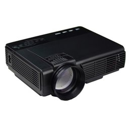 Wholesale Projector Brands - Wholesale-Brand Projector 1000 Lumens LED Projector Home Theater USB TV 3D HD 1080P Business VGA HDMI AC Power Cable Remote Control #205
