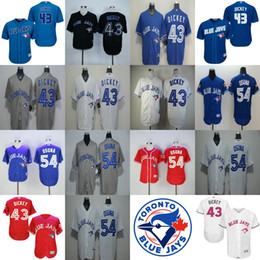 Wholesale Toddler Sale Jerseys - 2017 Mens Womens Kids Toddlers Toronto Blue Jays 43 R.A. Dickey 54 Roberto Osuna Blue Black Grey Red White Cheap Top Sale Baseball Jerseys