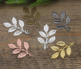 07491 32 * 50mm bronzo antico argento oro rosa pistola nero albero ramo foglia fascino per la creazione di gioielli, ciondolo collana per ciondoli braccialetto da fascini d'oro antichi per collane fornitori