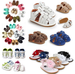 Wholesale Girls Sandals Size 12 - 12 pairs lot(many styles for choose) Summer first walkers shoes Baby sandals fashion baby shoes Infant girls boys sandals