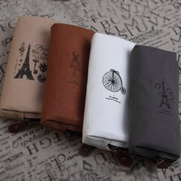 Wholesale Office Stationery Advertising Pen - Wholesale- 1PCS Learning Korean students supplies wholesale four angle pen stationery box advertising pen custom canvas