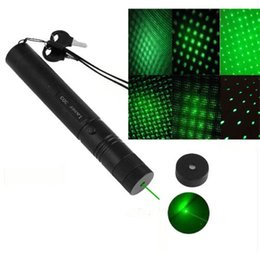 Wholesale Twinkle Laser - 1PC Powerful Rechargeable Battery303 Cheap Green Laser Pointer Pen Adjustable Focus Military Twinkling Star With Safety Key Lazer Flashlight