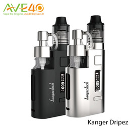 Wholesale Kanger Liquid - Original Kanger DRIPEZ 80W Starter Kit with Two Pumps Fit 16.5 ML bottles for Easy Liquid Addition Powered By Single 18650 Battery