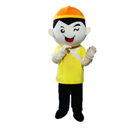 Wholesale Cartoon Mascot Boy - Chinese Boy Mascot Costumes Cartoon Character Adult Sz 100% Real Picture223