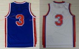 Wholesale Drazen Petrovic Jersey - Retro 3 Drazen Petrovic Jerseys Unfiorms Rev 30 New Material Throwback Shirt Home Alternate Blue White With Player Name Size 44-56