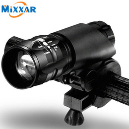 Wholesale Cree Light Flashlight - Mini 3 Modes CREE Q5 2300LM LED Flashlight Lamp Front Torch Waterproof Bicycle Light Bike Light Lamp with Torch Holder